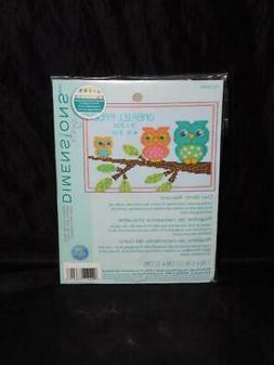 Dimensions Owl Birth Record Cross Stitch Kit NEW Mini 5 x 7