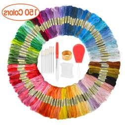 50/100/150 Colors Cross Stitch Cotton Embroidery Thread Flos