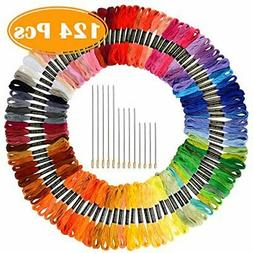 Paxcoo 124 Skeins Embroidery Floss Cross Stitch Thread with