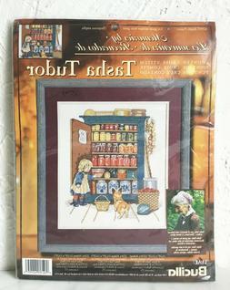 Plaid Bucilla Ample Pantry Tasha Tudor Corgi Cottage Counted