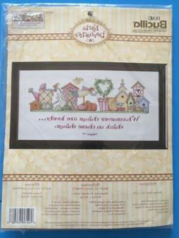 Plaid Bucilla  Counted Cross Stitch #43708 Philippians Verse
