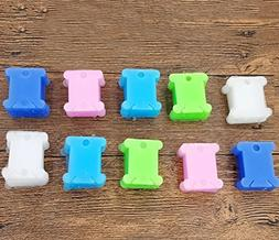 200pcs Plastic Embroidery Floss Craft Thread Bobbins Supplie