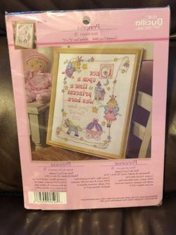 Bucilla Princess Birth Record Counted Cross Stitch Kit - 10