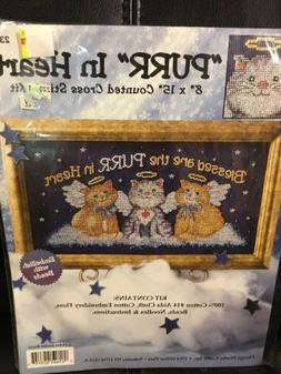 Design Works Purr In Heart Counted Cross Stitch Kit Kitty Ca