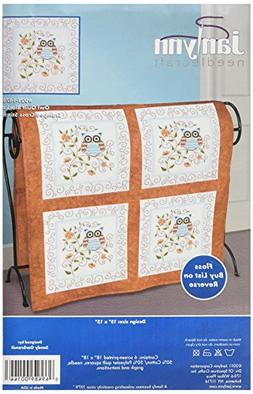 Owl Quilt Blocks Stamped Cross Stitch-15X15 6/Pkg