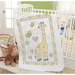 Baby by Herrschners Pre-Quilted Giraffe Spots Baby Quilt Sta