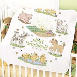 Herrschners® Pre-Quilted Hello Sunshine Baby Quilt Stamped