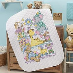 Baby by Herrschners Pre-Quilted Playland Baby Quilt Stamped
