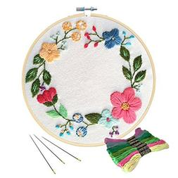 Unime Full Range of Embroidery Starter Kit with Partten, Cro