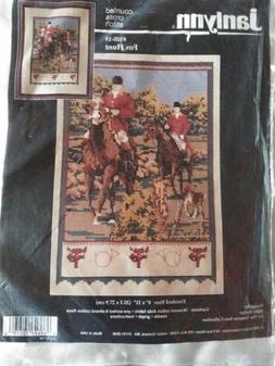 RARE Fox Hunt counted cross stitch kit Janlynn Marie Barber