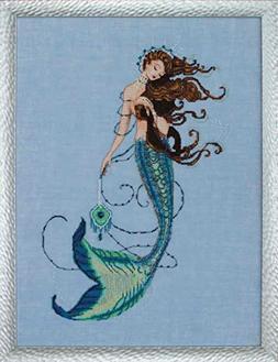 Renaissance Mermaid AIDA Beaded Counted Cross Stitch Kit by