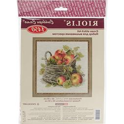 Ripe Apples Counted Cross Stitch Kit-11.75X11.75 10 Count