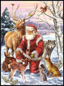 Santa's Menager - Chart Counted Cross Stitch Patterns Needle