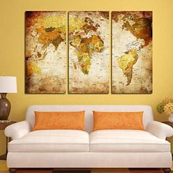 AutumnFall 3pcs/set Unframed Modern Art Oil Painting Print C