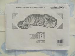 Herrschners SLEEPY KITTY Cross Stitch Pillowcase Kit - 2 Pil