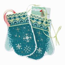 Snowflake Mittens Cross Stitch Ornament Kit Mill Hill 2018 T