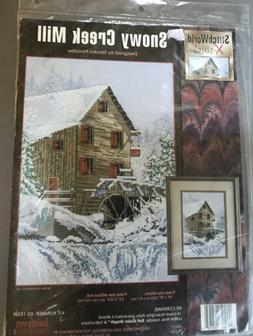Snowy Creek Mill Cross Stitch Kit, By Sandra Paradise, Janly