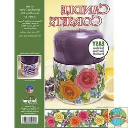 Janlynn Spring Rose Garden Candle Corset Plastic Canvas Kit