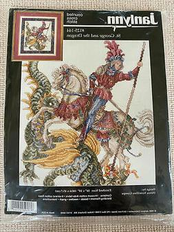Janlynn St George & The Dragon Counted Cross Stitch Kit 125-