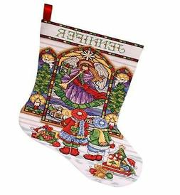 Stained Glass Stocking Counted Cross Stitch Kit-17 Long 14 C