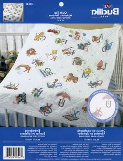Bucilla Stamped Cross Stitch Baby Quilt Top, 34 by 43-Inch,
