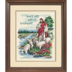 """Dimensions """"The Lord Is My Shepherd"""" Stamped Cross Stitch Ki"""
