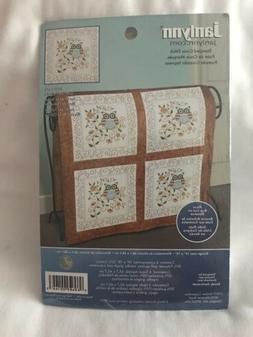 Janlynn Stamped Cross Stitch Kit #021-1474 Owl Lap Quilt NEW