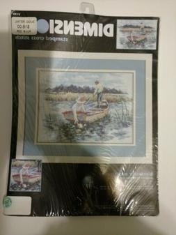 Dimensions Stamped Cross Stitch KIT 3195 Waterlily Blossums