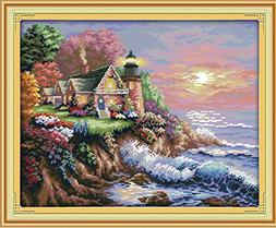 eGoodn Stamped Cross Stitch Kit Accurate Pre-printed Pattern