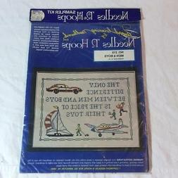 Needles 'n Hoops Stamped Cross Stitch Kit MEN AND BOYS TOYS
