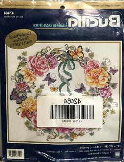 Bucilla Stamped Cross Stitch Kit - Rose Ivy Heart Wreath # 4