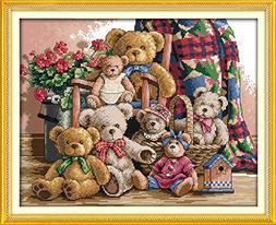 Joy Sunday Stamped Cross Stitch Kits Cross-Stitch Pattern Te
