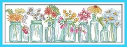 eGoodn Stamped Cross Stitch Kits With Printed Pattern - The