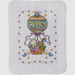 Tobin Stamped For Cross Stitch Baby Quilt Kit Balloon Ride 3