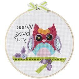 Bucilla My 1st Stitch Counted Cross Stitch Kit, 45997 Who Lo