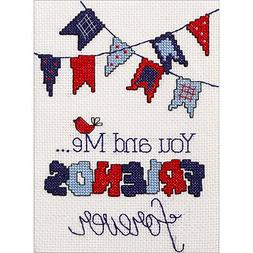 My 1St Stitch Friends Forever Mini Counted Cross Stitch Kit-