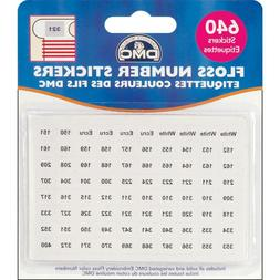 DMC Stranded Cotton Number Stickers