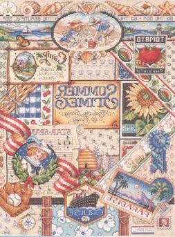 """Summer Sampler Counted Cross Stitch Kit, 12"""" x 16"""", 14-count"""