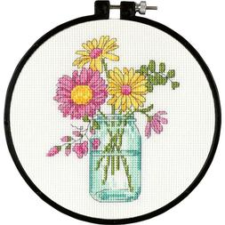 summer flowers counted cross stitch