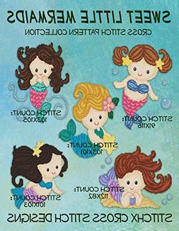 Sweet Little Mermaids Cross Stitch Pattern Collection - Five
