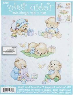 Tobin T21705 Baby Bears Quilt Stamped Cross Stitch Kit, 34 b
