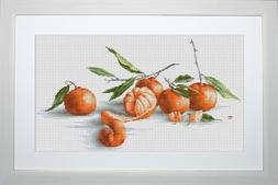 Luca-S Tangerines Counted Cross Stitch Kit, Pack of 1