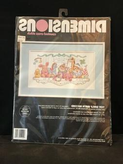 Dimensions Toy Shelf Birth Record Announcment Bunny Elephant