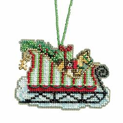 Mill Hill Toyland Sleigh Beaded Cross Stitch Kit Charmed Orn