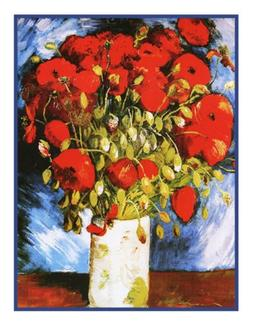 Orenco Originals Vase of Poppies by Vincent Van Gogh Counted