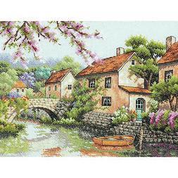 Village Canal Cross Stitch Kit