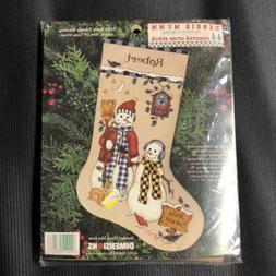 Vintage 1997 Dimensions Cross Stitch Debbie Mumm Snow Friend