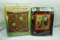 VINTAGE NEEDLEPOINT KITS BUCILLA NEEDLECRAFT DIMENSIONS CREW