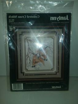 JANLYNN VTG 1992 FOXES COUNTED CROSS STITCH KIT 80-142 NEW 8