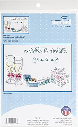 Janlynn Wedding Day Announcement Cross Stitch Supplies